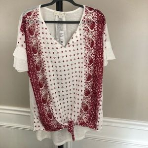 Suzanne Betro Weekends Blouse Women's XL NEW